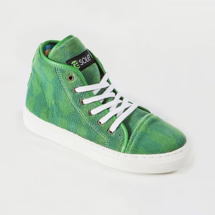 Resole creates colour sneakers from upcycled fabrics.