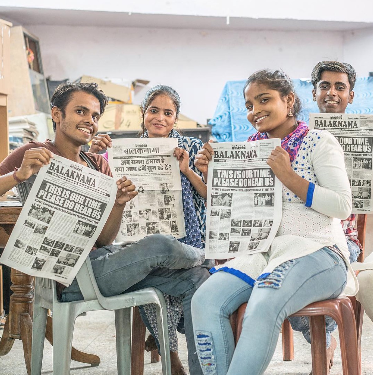 - Impoverished Indian children give a voice to exploited street kids through their own newspaper. Picture: Verse Stories.
