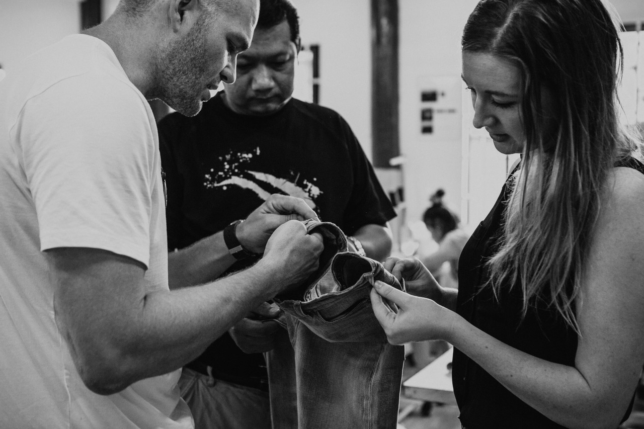 Outland Denim offers ethical employment and training to women rescued from human trafficking and exploitation to make.