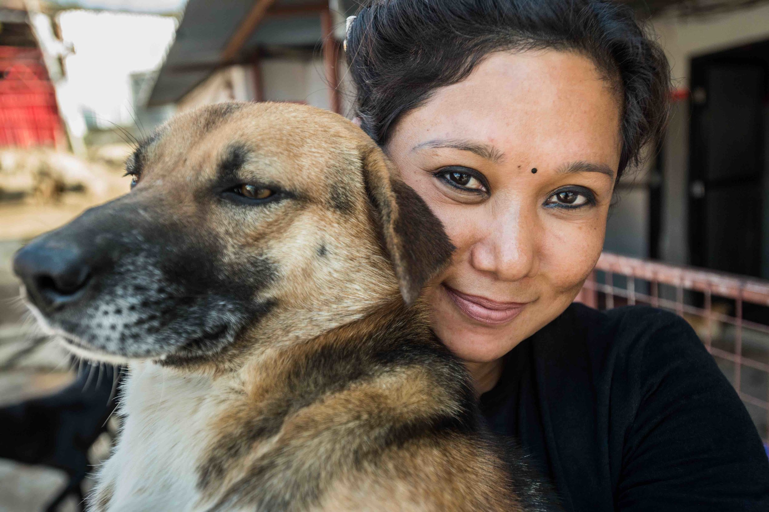 "Sneha Shrestha: ""Maybe these dogs also want to live."" Picture: Jo-Anne McArthur."