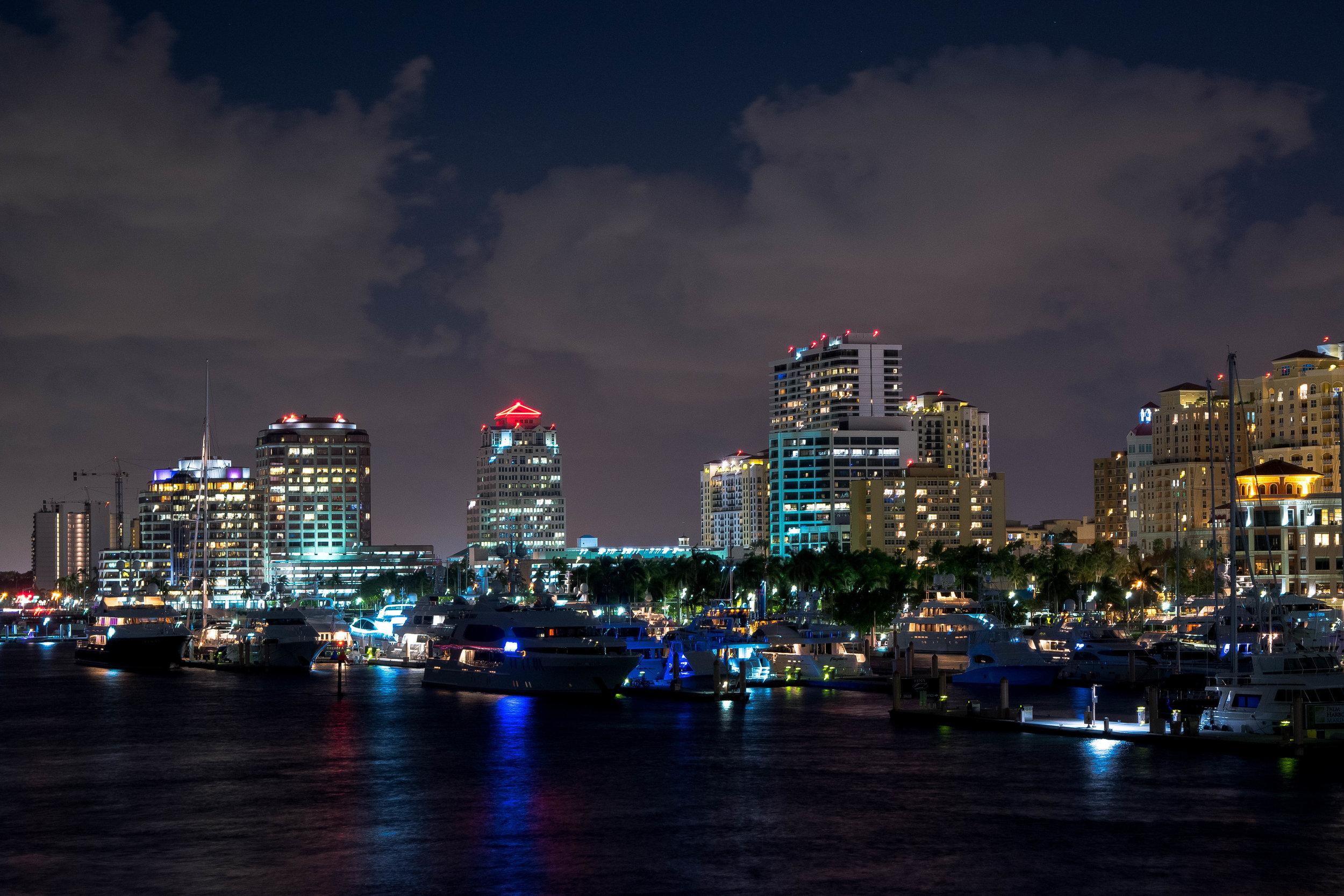 West Palm Beach Downtown, From Flagler Bridge
