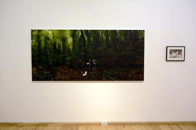 Et in Arcadia ego / oil on linen  / 250 x 114 cm  /2018