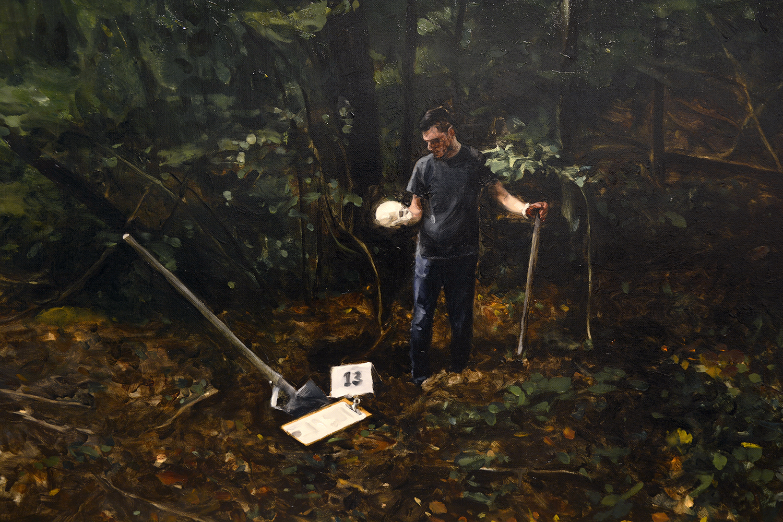 Et in Arcadia ego (detail) / oil on linen  / 250 x 114 cm  /2018