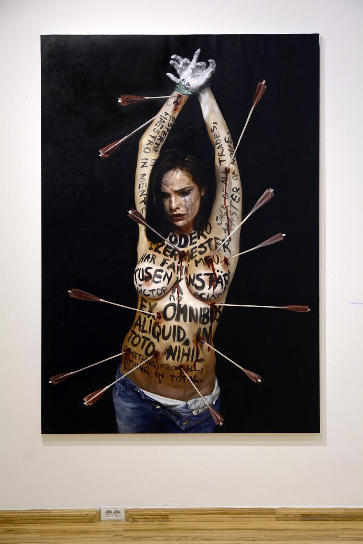 Ezermester / oil on linen / 229 x 169 cm / 2018