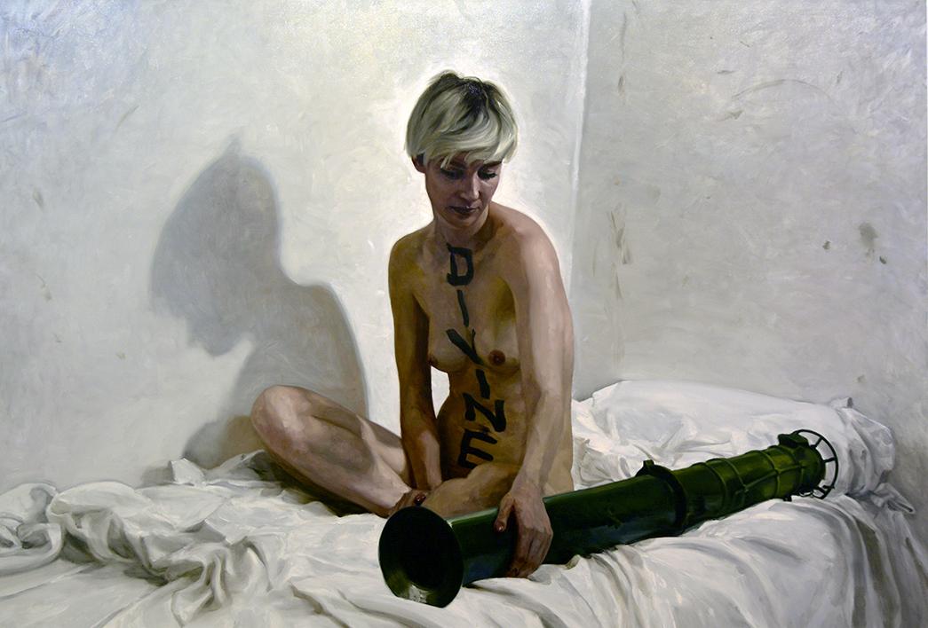 Divine / oil on linen / 265 x 180 cm / 2018