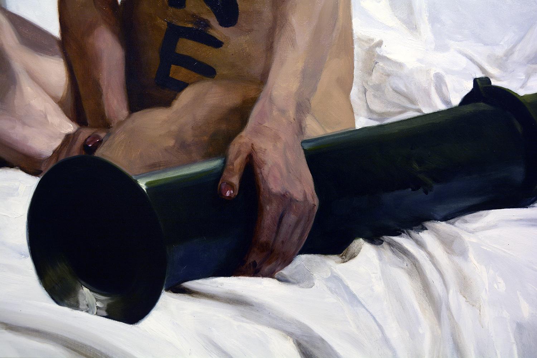 Divine (detail) / oil on linen / 265 x 180 cm / 2018