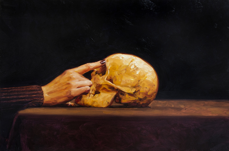 The man is dead (diptych) / oil on panel / 90 x 60 cm ( each) 2017/18