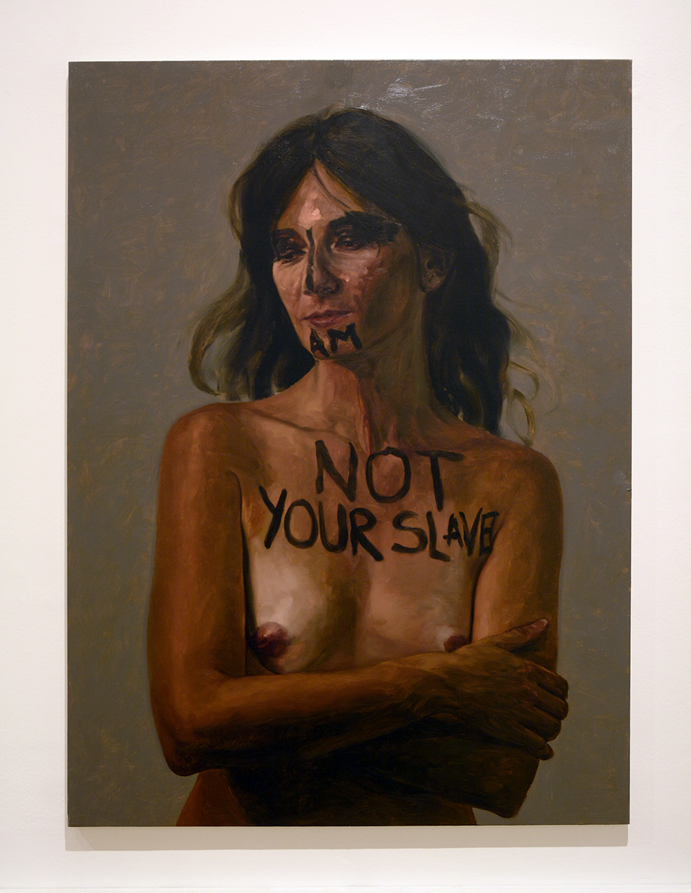 I am not your slave / oil on linen / 150 x 110 cm / 2016