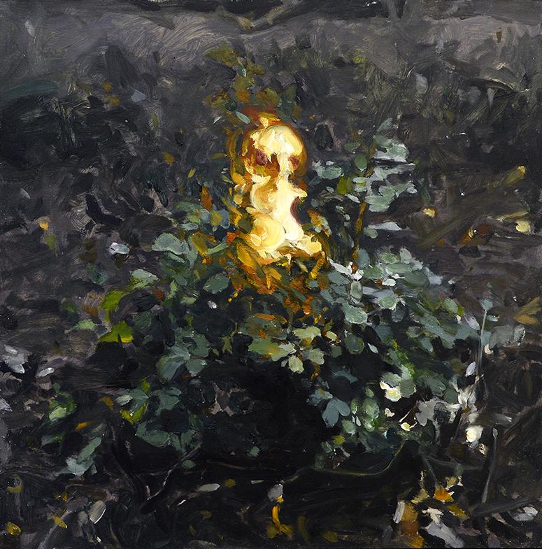 Bush (diptych) / oil on the panel / 45 x 45 cm / 2018
