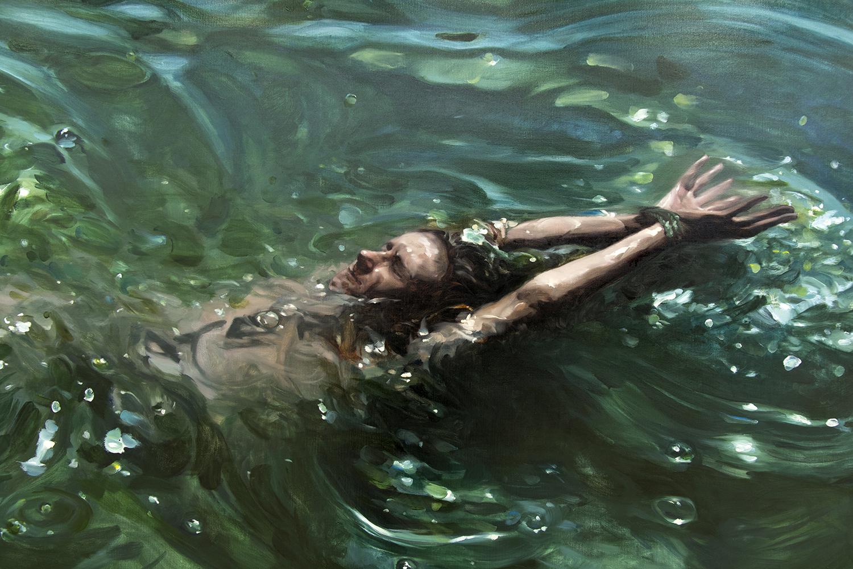 STATERA (triptych / detail) / oil on linen / 300 x 150 cm / 2017
