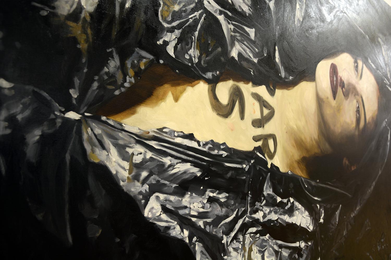 AR S (detail) / oil on linen / 270 x 180 cm / 2018