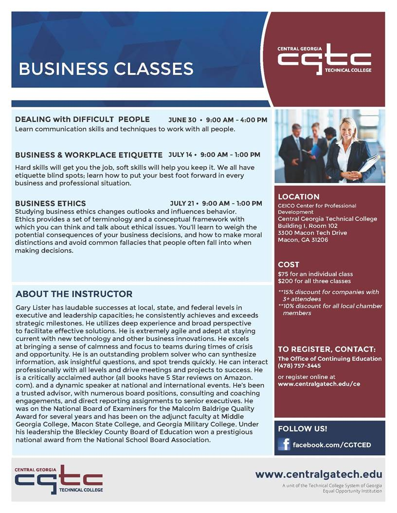 Business Ethics Class by CGTC