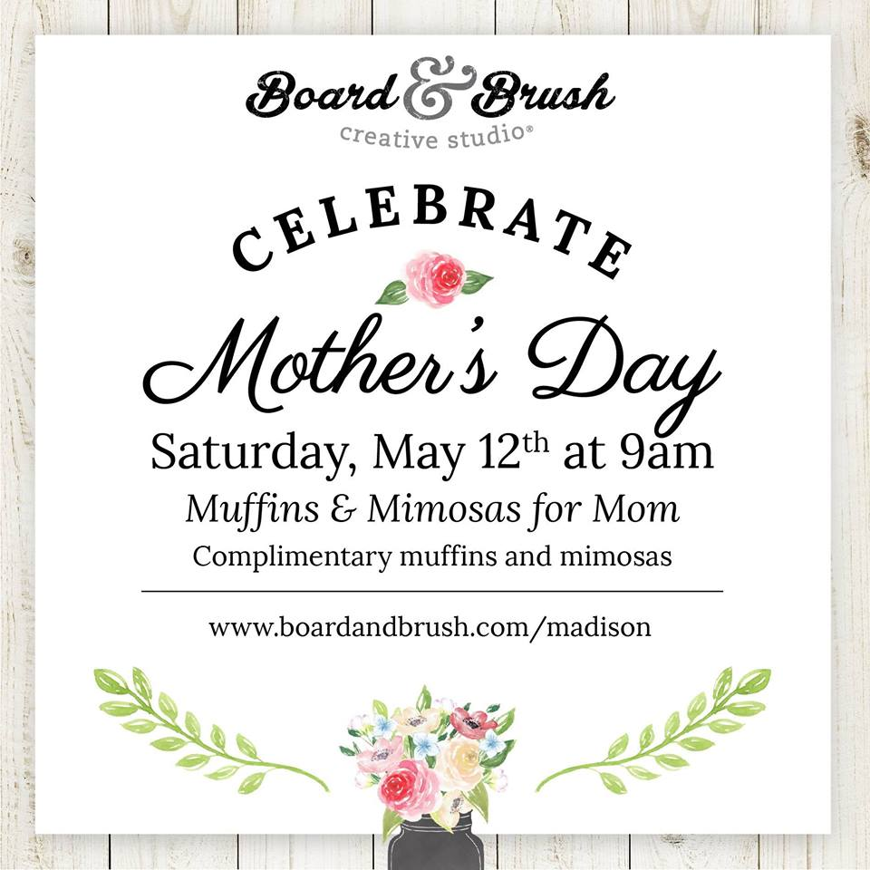 celebrate mothers day board & brush | LakeOconeeLife.com