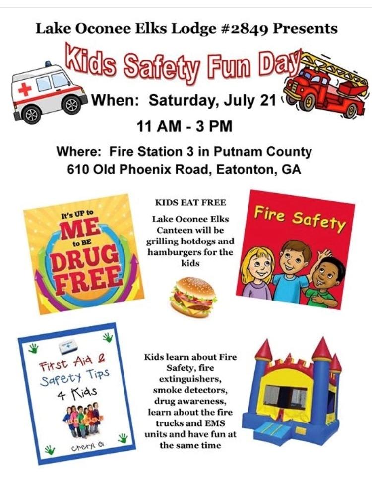 Kids Safety Fun Day |LakeOconeeLife.com