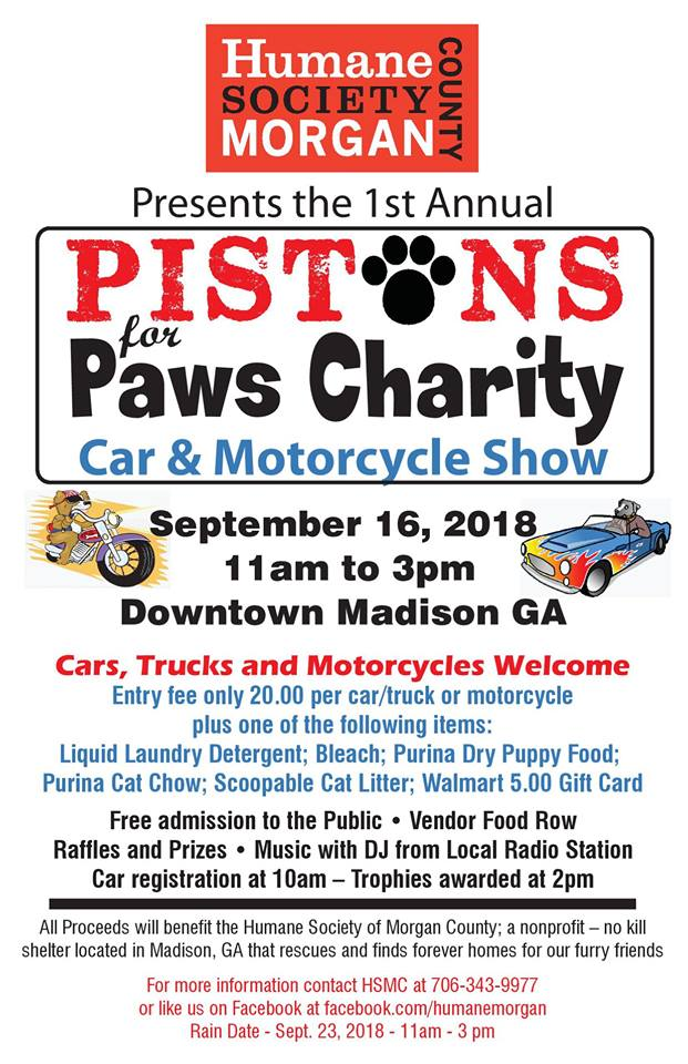 Pistons for Paws Charity |LakeOconeeLife.com