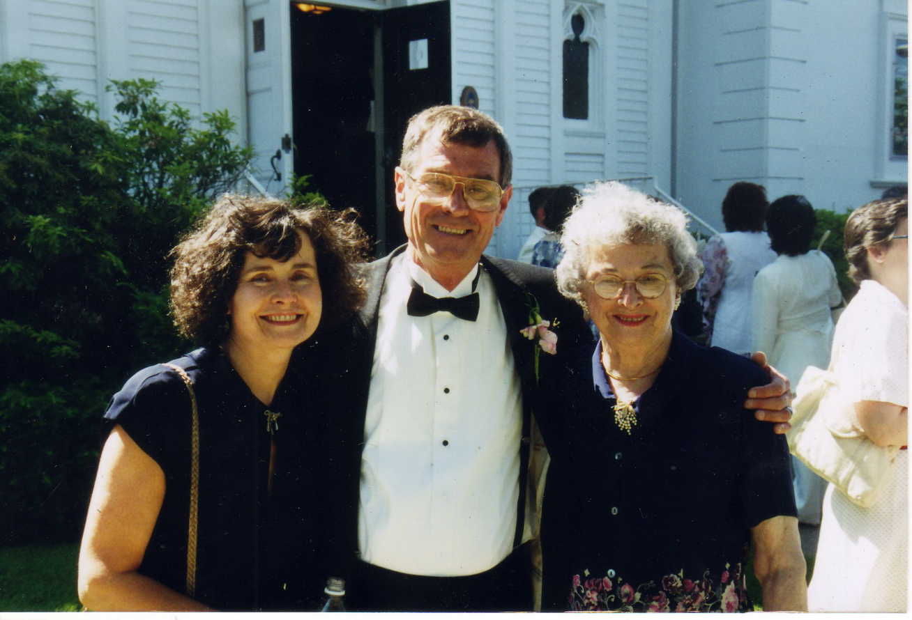 Richard with his sister Beverly and his mother Elizabeth at my sister's wedding.