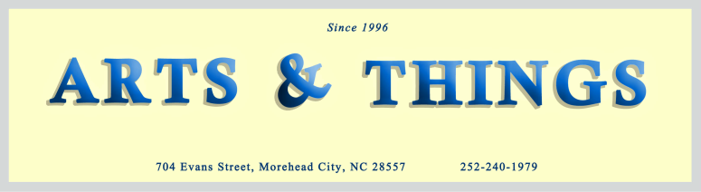 All of Our Prints are Made by: - We are proud to partner with Arts and Things of Morehead City, NC who provide us with all our our printing and shipping services.