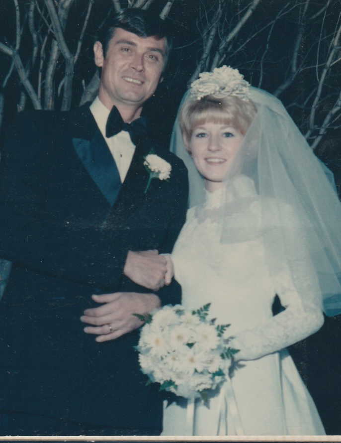 Richard and Beverly German, My Parents on their Wedding Day November 7, 1970. My mother joined him in eternal rest on November 23, 2016.  While they were not able to remain husband and wife, they remained best friends throughout their lives and I am sure they are reunited now laughing and toasting together again.