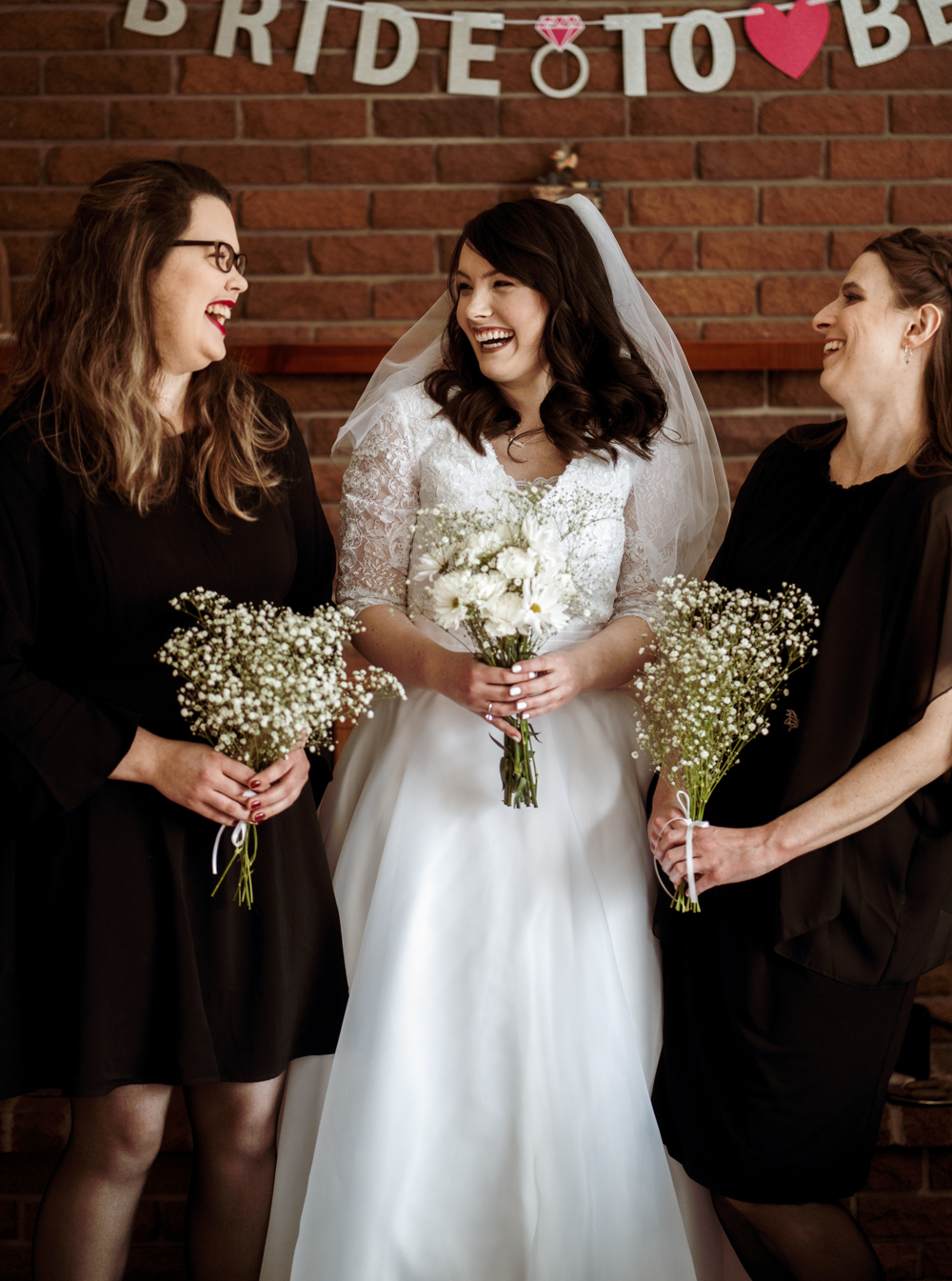 My bridesmaids are beautiful and hilarious.