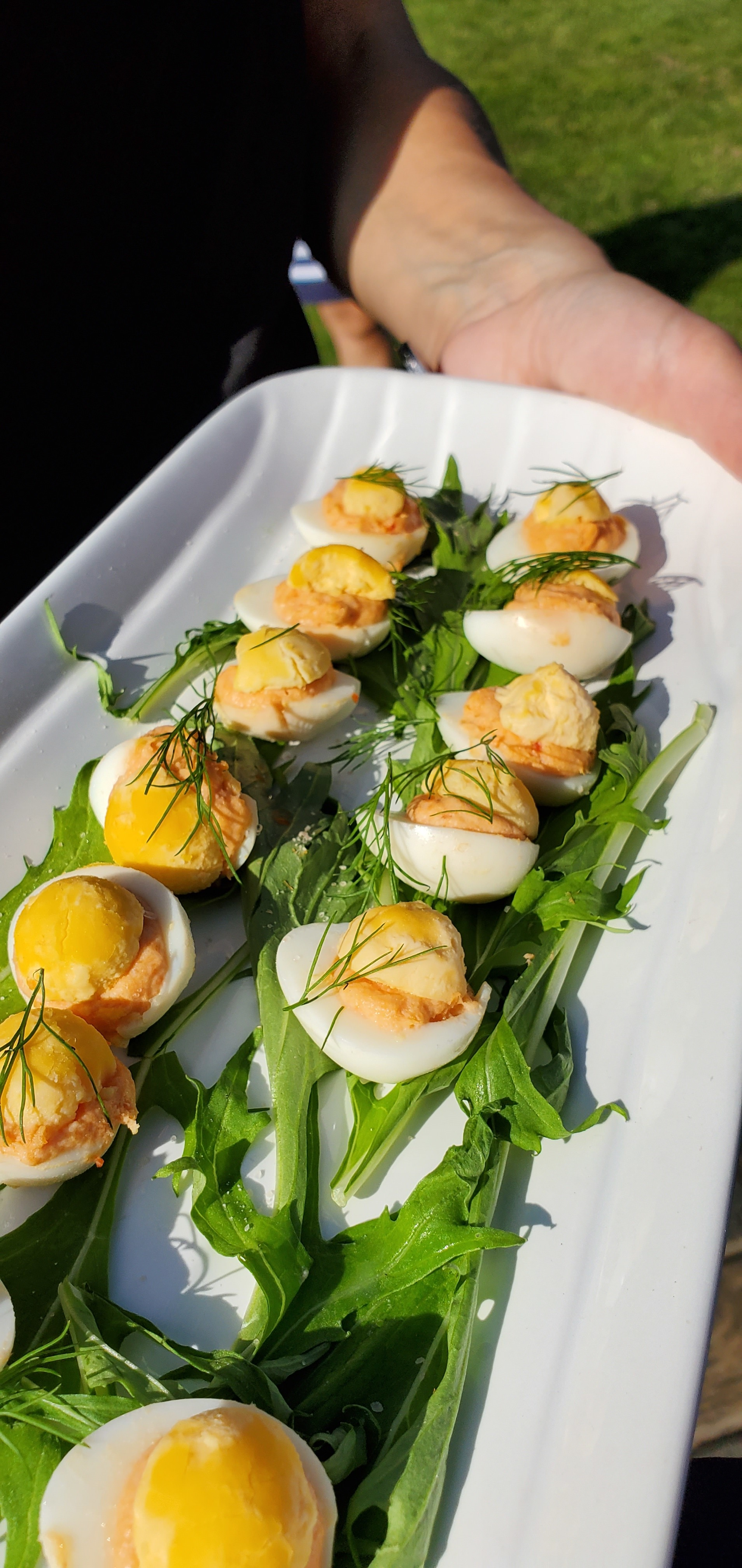 Smoked salmon mouse Devilled Quail Egg.jpg