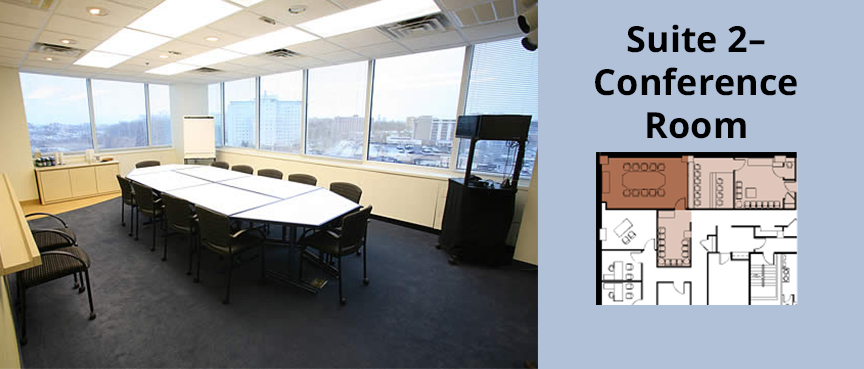 12-person conference table • Adapts to living room set-up