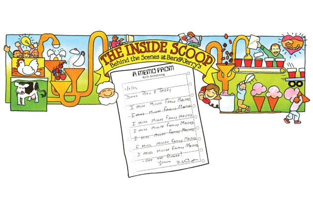 Illustration for Ben & Jerry's newsletter  ChunkMail