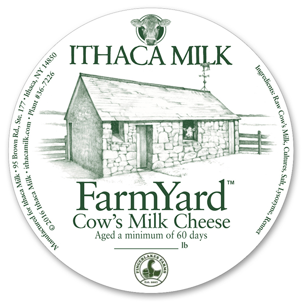 Label for Ithaca Milk's FarmYard Cheese