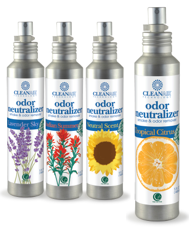 Way Out Wax's all natural CleanAir line of odor neutralizers.