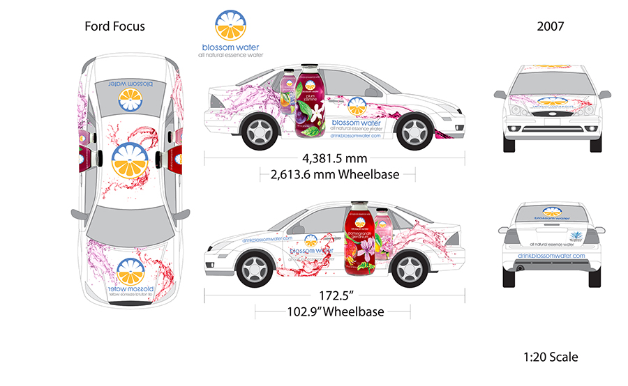 Car wrap designed for company sales vehicle