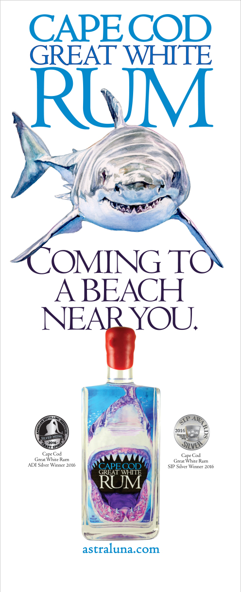 Tradeshow banner for Cape & Island Distillery's Cape Cod Great White Rum