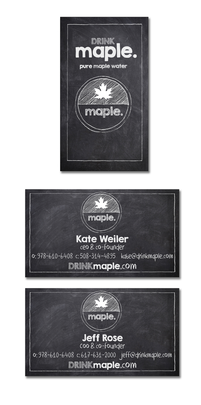 DRINKmaple business cards