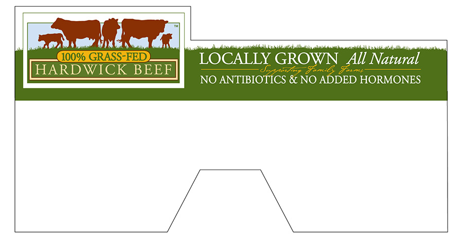 In-store freezer divider to highlight Hardwick Beef