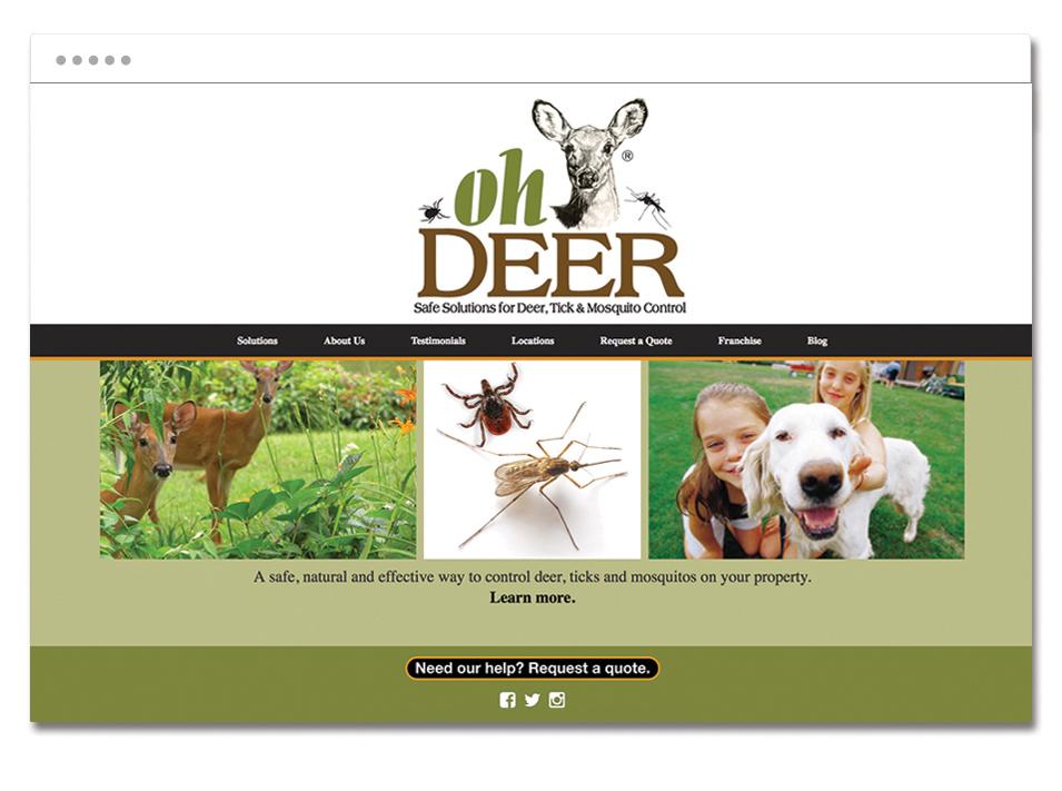 ohDEER's website homepage