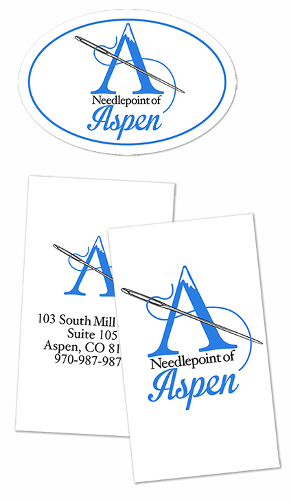 Oval labels and business card