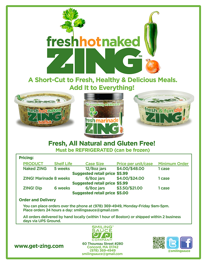 Zing! Sell Sheet