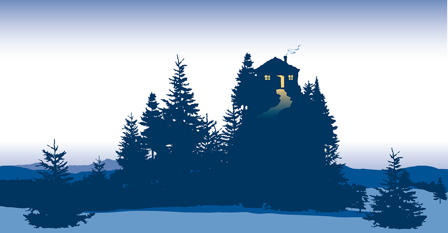 Background illustration for Cozy Home candles