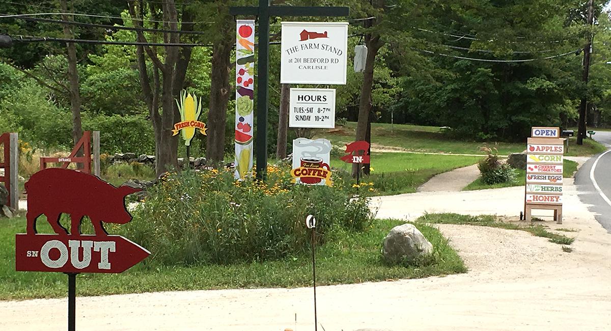 Clark Farm roadside signage in place