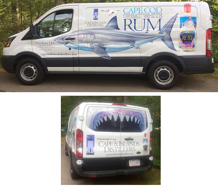 Cape & Island Distillers marketing and distribution van.