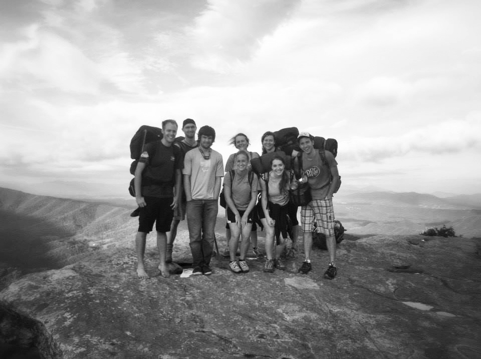 Hiking  McAfee's Knob June 2016 on a three day hiking trip.