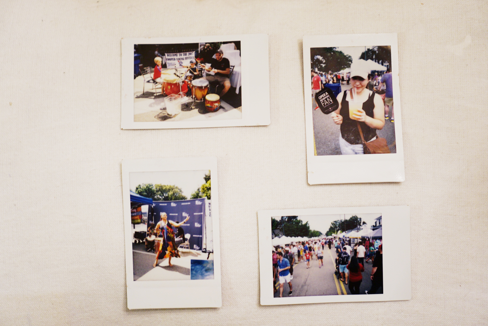 My 4 Instax camera moments from the day.