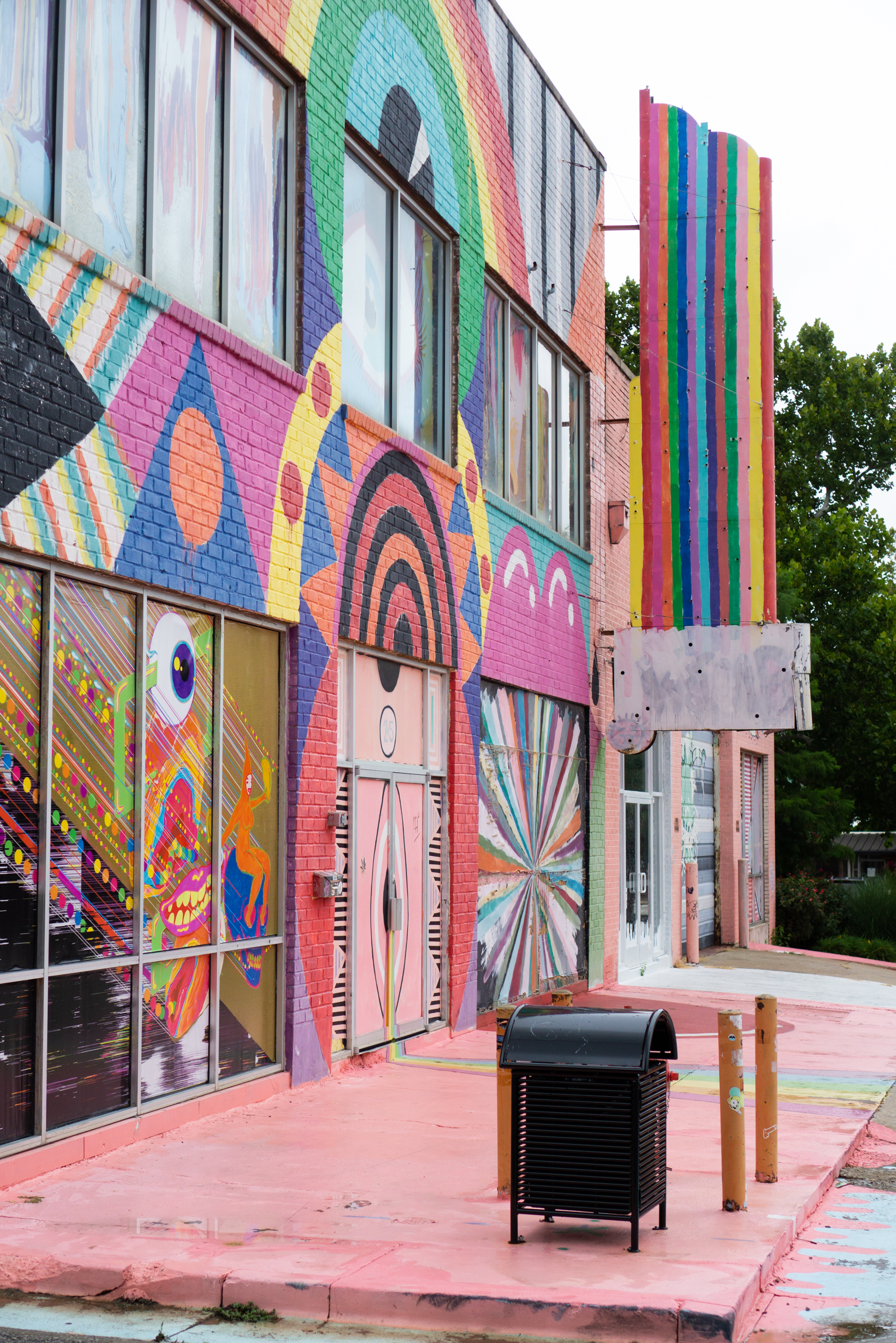 The beautiful street art and murals along Automobile Alley in downtown Oklahoma City