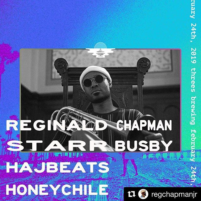#Repost @regchapmanjr with @get_repost ・・・ 🚨 Sunday Feb 24 🎙⏰8p At @threesbrewing as part of the @sunsetvibespresents showcase. 🌅🌅🌅🌅🌅 The band... @adibop 🎸👩🏻‍🚀@woodrambles13 🎙👩🏽‍🚀@kofi_shepsu 🥁👩🏾‍🚀@juliachenpiano 🎹 👩🏽‍🚀@iamkhemestry 🎺 👩🏿‍🚀 Also on the bill is  @hajbeats  @starrbusby_alive  @hnychl