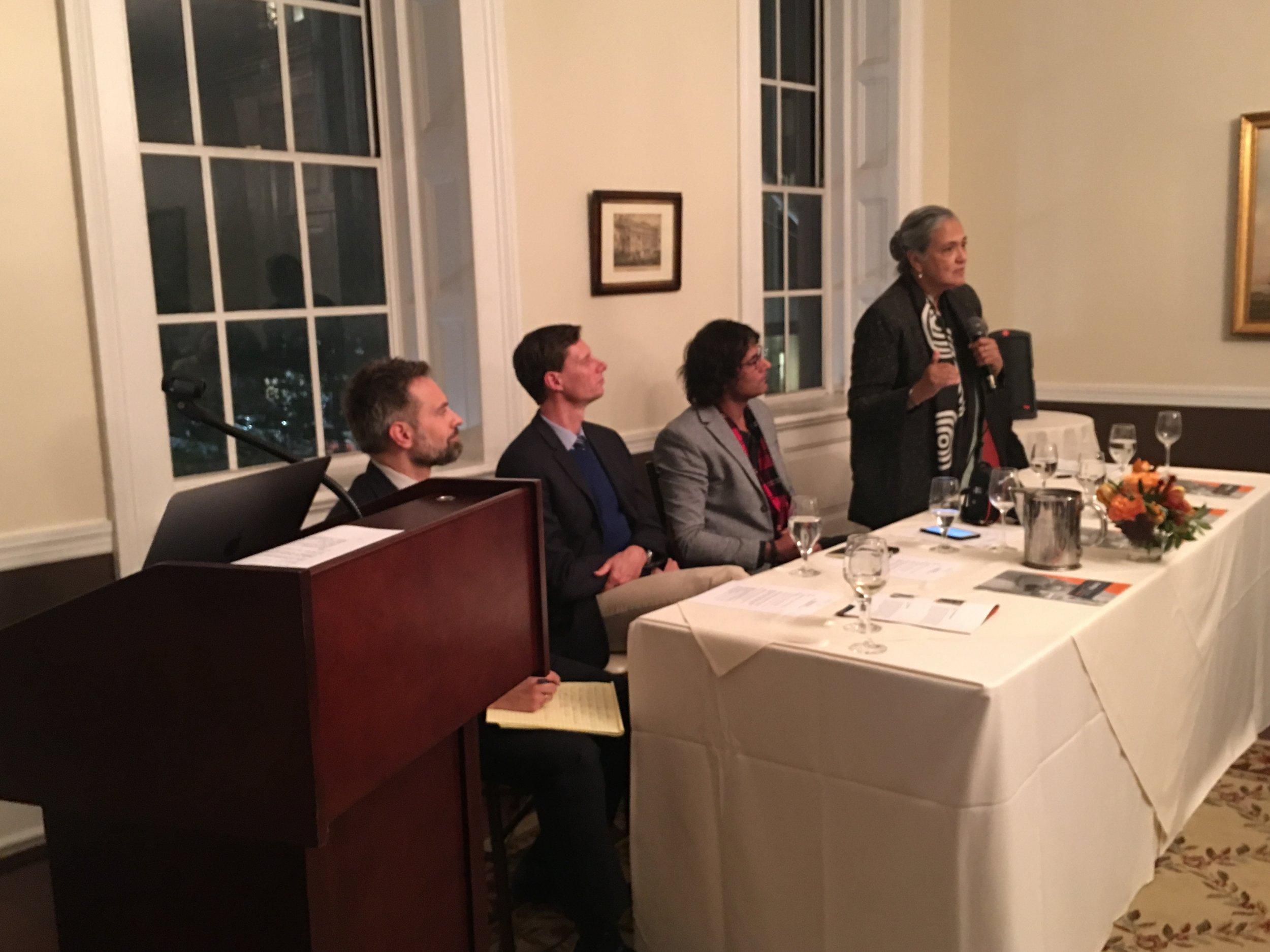 Panelists Paul D. Glader, Markus Spieker, Vishal Arora,Jennifer Arul and Dr. Paul Marshall compare President Donald Trump to India Prime Minister Narendra Modi.