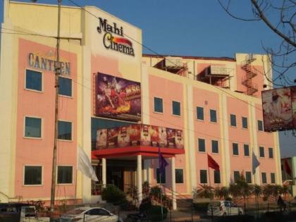 A movie hall in at the Dera Sacha Sauda headquarters in Sirsa Haryana where only movies starring the Dera Chief Gurmeet Ram Rahim are shown