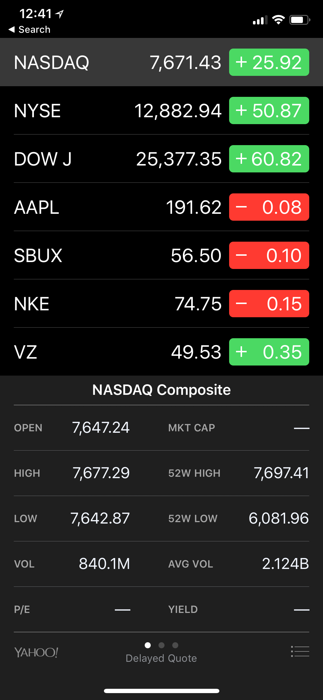 Stocks App iOS 11