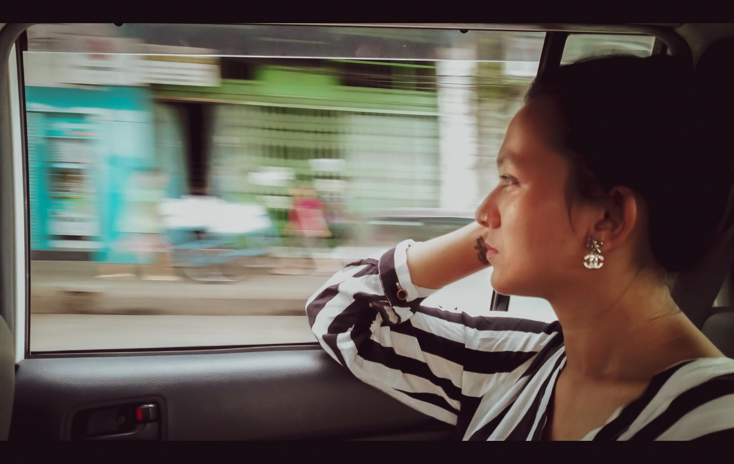Nandar Gyawalli in downtown Yangon (credit: Vishal Arora)