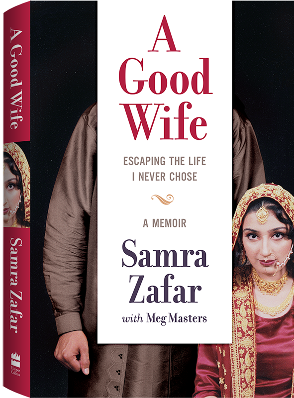 On the book's cover, 17-year-old Samra Zafar sits in her wedding attire.