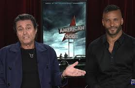 'American Gods' series leads  #IanMcShane  and  #RickyWhittle