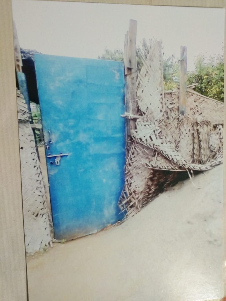 The door of Pastor G. Pughal's house church before the congregation shifted to another house in the same district. Submitted photo.