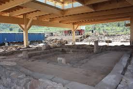 Remains of the ancient synagogue in Magdala.